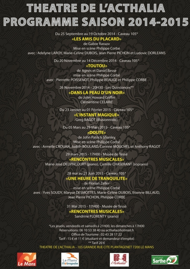 Programme Acthalia 2014-2015